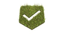 3d Rendered Grass Field Of Symbol Of Been Here Marker Isolated On White Background