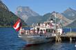 """canvas print picture - Der Dampfer """"Gisela"""" in Ebensee, Salzkammergut, Österreich, Europa - The steam boat """"Gisela"""" in Ebensee, Salzkammergut, Austria, Europe"""