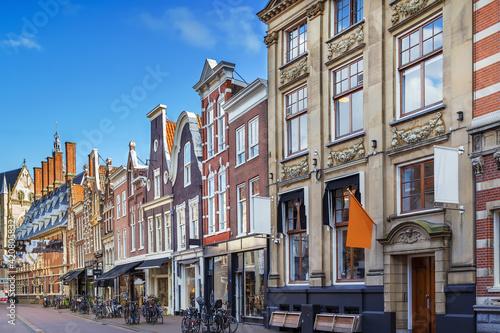Obraz na plátne Street in Haarlem, Netherlandsм