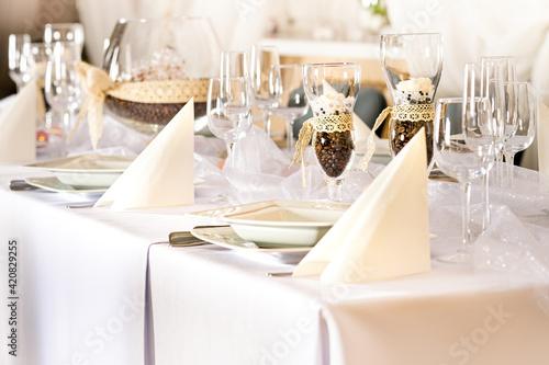 Fototapeta Nakrycie stołu imprezy okolicznościowej obraz