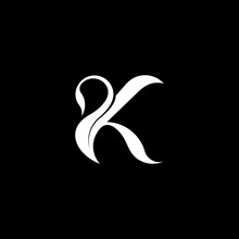 Initial Letter K Swan Logo Design. Vector Illustration Of Initial Letter K To Form A Swan Icon Design Head. Modern Logo Design.