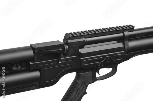 Fotografija Modern air rifle isolate on a white back