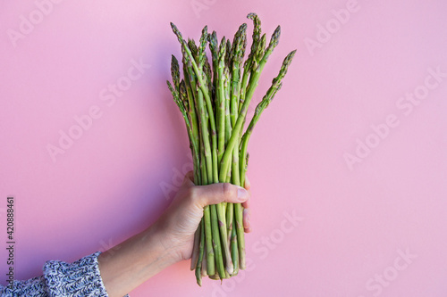 asparagus fresh raw isolated and natural