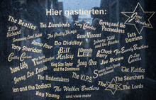 Wall Plague With Names Of Famous Musicians And Performers,  Reeperbahn, Hamburg, Germany
