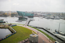Elevated View Of NEMO Science Centre, Amsterdam, Netherlands