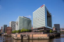 View Of Apartment And Office Block Waterfronts, HafenCity, Hamburg, Germany