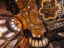 Interior Of Hagia Sophia (Aya Sofya), Sultanahmet, Istanbul, Turkey