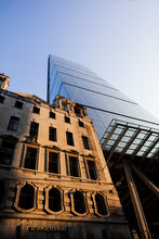 Low Wide Angle View Of Leadenhall Building, London, UK