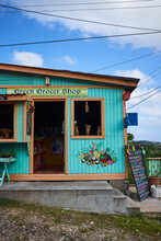 Colourful Green Grocer Shop, Saint Lucia, Caribbean