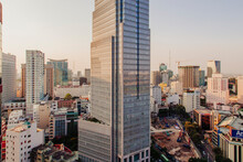 Elevated Cityscape With Skyscrapers, Downtown Ho Chi Minh City, Vietnam