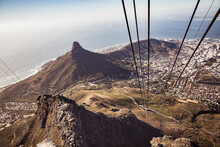 View From Cable Car To Coast, High Angle View, Cape Town, Western Cape, South Africa