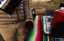 Camper Pouring Coffee Into Mug