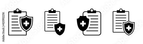 Medical insurance icon set. health insurance icon