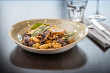 Vegan Bean Dish At Italian Restaurant