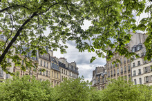 Scenic View Of Place Dauphine, Lle De La Cite, Paris, France