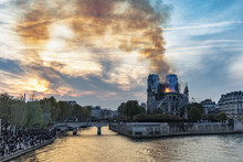 Notre-Dame De Paris Fire, Paris, Ile-de-France, France