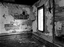 Remnants, Walt Place 03. The Interior Of An Abandoned House In An Advanced State Of Decay. Near Pennville, Missouri USA, 1979.