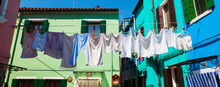 Clothes Hanging In The Yard