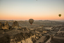 Hot Air Balloon Over Göreme, Cappadocia, Turkey