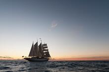 Star Clipper Sailing Cruise Ship, Terre De Haut, Iles Des Saintes, Guadeloupe, French Caribbean