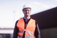 Portrait Of Engineer At Port