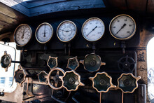 Steam Train Engine Control Panel