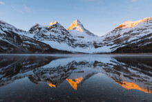 Panoramic View Of Mount Assiniboine, Great Divide, Canadian Rockies, Alberta, Canada