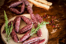 Strings Of Sausages, Rosemary, Peppercorn