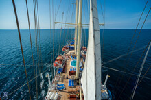 Star Clipper Cruise Ship Sailing In Andaman Sea, Thailand