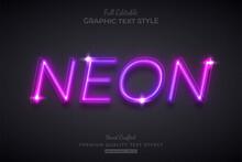 Neon Purple Glow Editable Text Effect Font Style