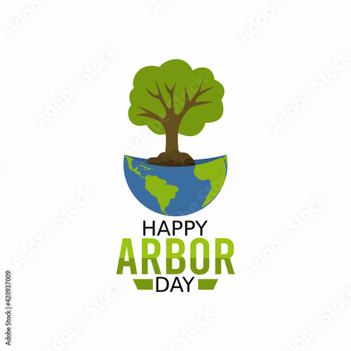 Valokuva vector graphic of happy arbour day good for happy arbour day celebration