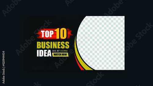 creative business youtube thumbnail and web banner template Premium Vector design