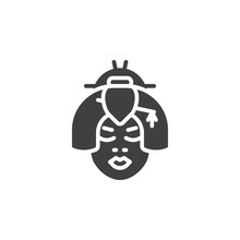 Geisha Face Vector Icon