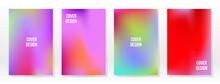 Minimal Poster. Pastel Soft. Rainbow Gradient Set