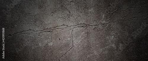 Fotografia, Obraz Cracked wall background material.  ひび割れた壁の背景素材