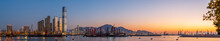 Hong Kong West Kowloon At Sunset