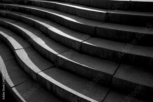 Fototapeta Abstract architecture design of cement stairway obraz