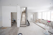 canvas print picture - House interior renovation or construction unfinished