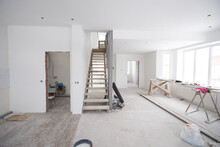 House Interior Renovation Or Construction Unfinished