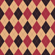 Argyle Pattern Seamless In Brown, Red, Beige. Classic Geometric Stitched Vector Graphic For Autumn Winter Gift Wrapping Paper, Socks, Sweater, Jumper, Other Modern Textile Or Paper Design.