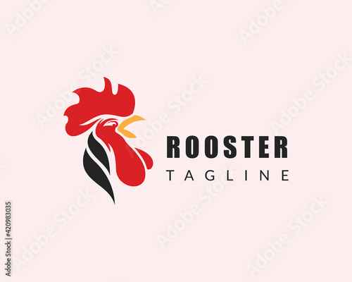Stampa su Tela rooster logo head rooster logo animal creative design