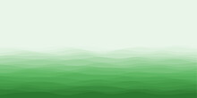Abstract Waves Cover. Horizontal Background With Curves In Green Colors. Superb Vector Illustration.