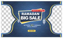 Ramadan Sale Banner Posts With Lantern