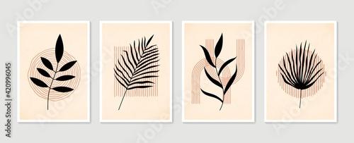 Vászonkép Botanical wall art vector set
