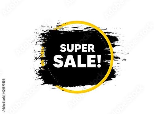 Fototapeta Super Sale. Special offer price sign. Vector obraz