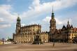 canvas print picture - Stadtansicht auf das historische Dresden in Sachsen