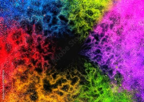 Fototapeta カラフルな粒子が渦巻く抽象的な背景 obraz