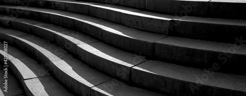 Obraz Abstract architecture design of cement stairway - fototapety do salonu