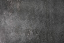 Vintage Textured Gray Stucco Background With Scratches, Scuffs And Stains. Abstract Plaster Backdrop For Copy Space