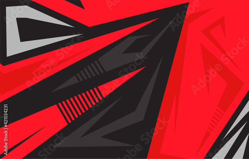 Fototapeta Vector car sticker design. Racing backgrounds for vinyl wrap, race cars, rally, adventure, livery and stickers. Vector graphics. Neon texture pattern. obraz